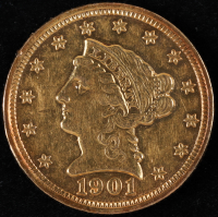 1901 $2.50 Liberty Head Quarter Eagle Gold Coin at PristineAuction.com