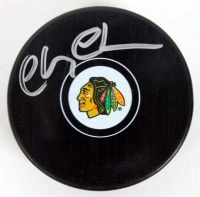 Chevy Chase Signed Blackhawks Logo Hockey Puck (PSA COA) at PristineAuction.com