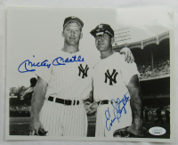 Mickey Mantle & Enos Slaughter Signed Yankees 8x10 Photo (JSA LOA) at PristineAuction.com
