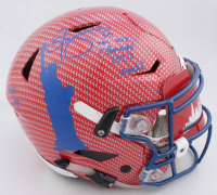 Lawrence Taylor Signed Giants Full-Size Authentic On-Field Hydro-Dipped SpeedFlex Helmet with Multiple Inscriptions (JSA COA) at PristineAuction.com