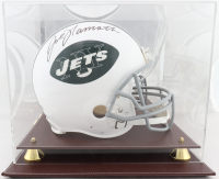 Joe Namath Signed Jets Full-Size Authentic On-Field Helmet with Display Case (JSA COA) at PristineAuction.com
