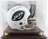 Joe Namath Signed Jets Full-Size Throwback Suspension Helmet with Display Case (JSA COA) at PristineAuction.com