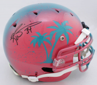 Ricky Williams Signed Full-Size Authentic On-Field Hydro-Dipped F7 Helmet (Beckett COA) at PristineAuction.com