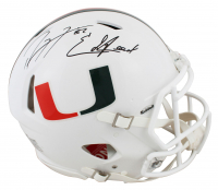 Ray Lewis & Ed Reed Signed Miami Hurricanes Full-Size Authentic On-Field Speed Helmet (Beckett COA) at PristineAuction.com