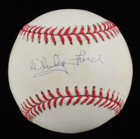 Whitey Ford Signed OML Baseball (Fanatics Hologram & MLB Hologram) at PristineAuction.com