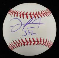 "Oscar Taveras Signed OML Baseball Inscribed ""STL"" (PSA COA) at PristineAuction.com"