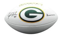 "John Kuhn Signed Packers Logo Football Inscribed ""Kuuuuuhn"" (JSA COA) at PristineAuction.com"