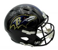 "Justin Tucker Signed Ravens Full-Size Speed Helmet Inscribed ""Raven Nation!"" (JSA COA) at PristineAuction.com"