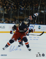"""Derick Brassard Signed LE Rangers 16x20 Photo Inscribed """"14/15 Career High"""" & """"19 G, 41A, 60 Pts"""" (Steiner COA & Fanatics Hologram) at PristineAuction.com"""