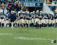 Charlie Weis Signed Notre Dame Fighting Irish 16x20 Photo (Steiner Hologram) at PristineAuction.com