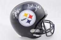 Craig Colquitt & Dustin Colquitt Signed Steelers Full-Size Helmet (Beckett COA) at PristineAuction.com