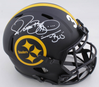 """Jerome Bettis Signed Steelers Full-Size Eclipse Alternate Speed Helmet Inscribed """"Bus"""" (Beckett COA) at PristineAuction.com"""