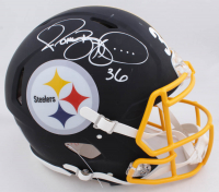 Jerome Bettis Signed Steelers Full-Size Authentic On-Field Matte Black Speed Helmet (Beckett COA) at PristineAuction.com