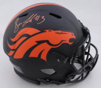Drew Lock Signed Broncos Full-Size Authentic On-Field Eclipse Alternate Speed Helmet (JSA COA) at PristineAuction.com