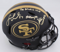 "Kwon Alexander & Fred Warner Signed 49ers Full-Size Authentic On-Field Eclipse Alternate Speed Helmet Inscribed ""Hotboyzz"" & ""The Block is Hot"" (Beckett COA) at PristineAuction.com"