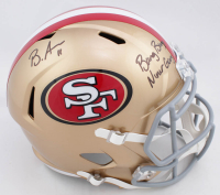"Brandon Aiyuk Signed 49ers Full-Size Speed Helmet Inscribed ""Bang Bang Niner Gang"" (Beckett COA) at PristineAuction.com"