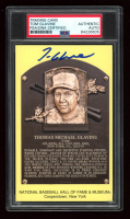 Tom Glavine Signed Gold Hall of Fame Plaque Postcard (PSA Encapsulated) at PristineAuction.com