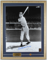 Ted Williams Signed Red Sox 19x24 Custom Framed Photo Display With Jersey #9 Pin (PSA LOA & Williams Hologram) at PristineAuction.com