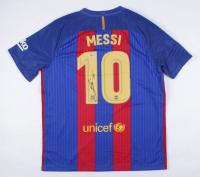 "Lionel Messi Signed FC Barcelona Jersey Inscribed ""Leo"" (Beckett COA) at PristineAuction.com"