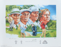 "Gene Sarazen & Gary Player Signed LE ""The Grand Slam Champions of Golf"" 22x29 Lithograph (Beckett LOA) at PristineAuction.com"