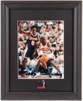 Michael Jordan & Kobe Bryant 13x16 Custom Framed Photo Display With Jordan 10x Scoring Champion Pin at PristineAuction.com