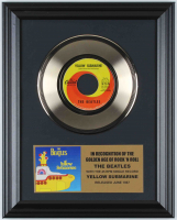 """The Beatles 12x15 Custom Framed """"Yellow Submarine"""" Record Display at PristineAuction.com"""