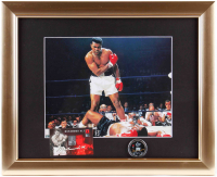 Muhammad Ali 13x16 Custom Framed Photo Display with Half Dollar Commemorative Muhammad Ali Coin at PristineAuction.com