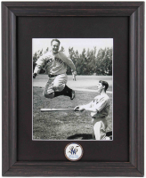 "Lou Gehrig & Joe DiMaggio ""Spring Training"" 13x16 Custom Framed Photo Display with Yankees 25x Champions Pin at PristineAuction.com"