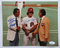Stan Musial & Pete Rose Signed 8x10 Photo (JSA COA) at PristineAuction.com
