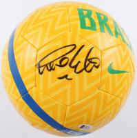 Ronaldo Signed Team Brazil Logo Soccer Ball (Beckett COA) at PristineAuction.com