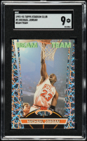 Michael Jordan 1992-93 Stadium Club Beam Team #1 (SGC 9) at PristineAuction.com