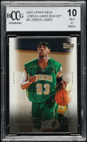LeBron James 2003 Upper Deck LeBron James Box Set #6 Head of the Class (BCCG 10) at PristineAuction.com