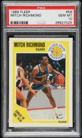 Mitch Richmond 1989-90 Fleer #56 RC (PSA 10) at PristineAuction.com