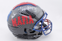 Jim Kelly, Thurman Thomas & Andre Reed Signed Full-Size Authentic On-Field Hydro-Dipped F7 Helmet (JSA COA) at PristineAuction.com