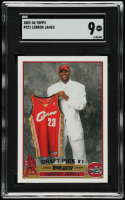 LeBron James 2003-04 Topps #221 RC (SGC 9) at PristineAuction.com
