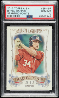 Bryce Harper 2015 Topps Allen and Ginter Starting Points #SP97 (PSA 10) at PristineAuction.com