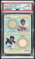 Jose Altuve / Joe Morgan 2017 Topps Heritage Clubhouse Collection Dual Relics #CCDRMA (PSA 10) at PristineAuction.com