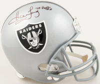 "Howie Long Signed Raiders Full-Size Helmet Inscribed ""HOF/00"" (JSA COA) at PristineAuction.com"