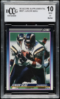 Junior Seau 1990 Score Supplemental #65T (BCCG 10) at PristineAuction.com