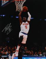 Tim Hardaway Jr. Signed Knicks 16x20 Photo (Steiner Hologram & Fanatics Hologram) at PristineAuction.com