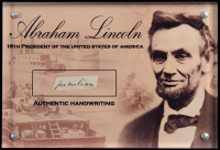 Abraham Lincoln Authentic Hand-Written Word Cut in Acrylic Display Case (JSA LOA) at PristineAuction.com