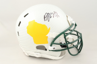 Davante Adams Signed Full-Size Authentic-On Field Hydro-Dipped Helmet (JSA COA) at PristineAuction.com