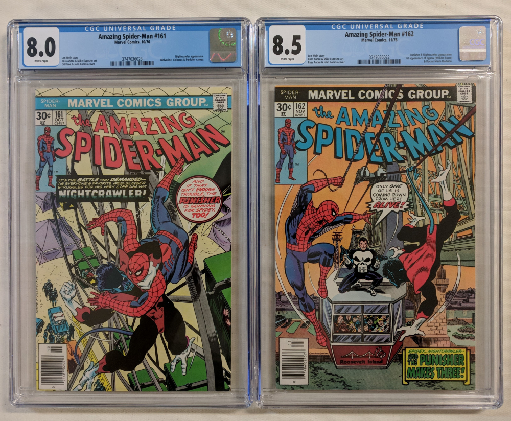 """Set of (2) 1976 """"The Amazing Spider-Man"""" Issues #161 & #162 Marvel Comic Books (CGC 8.0 & 8.5) at PristineAuction.com"""