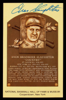 Enos Slaughter Signed Hall of Fame Plaque Postcard (JSA COA) (See Description) at PristineAuction.com