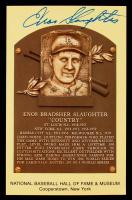 Enos Slaughter Signed Hall of Fame Plaque Postcard (JSA COA) (See Description) at PristineAuction.com