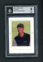 Tiger Woods 2001 Upper Deck Gallery #GG4 (BGS 9) at PristineAuction.com