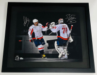 Alex Ovechkin & Braden Holtby Signed Capitals 20x24 Custom Framed LE Photo (Fanatics Hologram) at PristineAuction.com