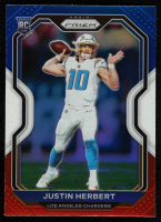 Justin Herbert 2020 Panini Prizm Prizms Red White and Blue #325 at PristineAuction.com