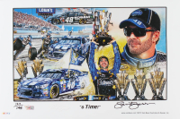 "Sam Bass Signed LE 2015 Jimmie Johnson ""6-Time!"" 11x17 Print (Fanatics Hologram & Bass COA) at PristineAuction.com"