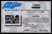 "Sam Bass Signed LE 2015 Jimmie Johnson ""6-Time!"" 11x17 Print (Fanatics Hologram & Bass COA) at PristineAuction.com"